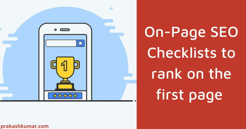On Page SEO Checklists to rank on first page